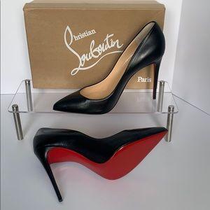 Louboutin pugalle follies 100 nappa black heels